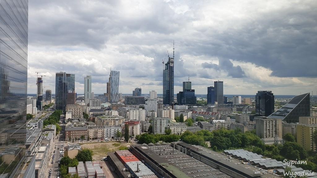 Widok z pokoju premium w Crowne Plaza Warsaw THE HUB